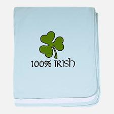 100% Irish baby blanket