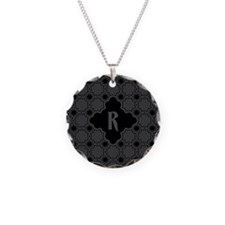 MONOGRAM Gothic Quatrefoil Pattern Necklace