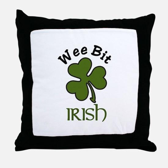 Wee Bit Irish Throw Pillow