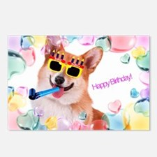 Happy Birthday Corgi Postcards (package Of 8)