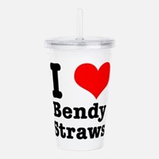 bendy straws.png Acrylic Double-wall Tumbler