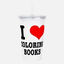COLORING BOOKS.png Acrylic Double-wall Tumbler