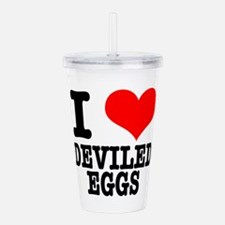 DEVILED EGGS.png Acrylic Double-wall Tumbler