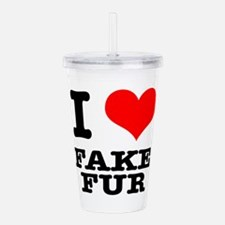 FAKE FUR.png Acrylic Double-wall Tumbler