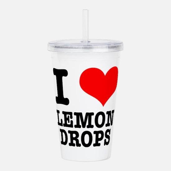 LEMON DROPS.png Acrylic Double-wall Tumbler