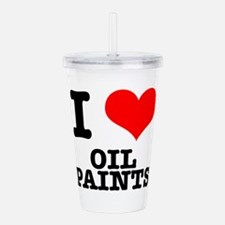OIL PAINTS.png Acrylic Double-wall Tumbler