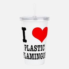 plastic flamingos.png Acrylic Double-wall Tumbler