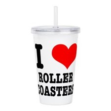 roller coasters.png Acrylic Double-wall Tumbler