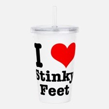 stinky feet.png Acrylic Double-wall Tumbler