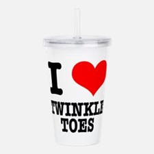 TWINKLE TOES.png Acrylic Double-wall Tumbler