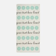 Cute Mint Fan Beach Towel