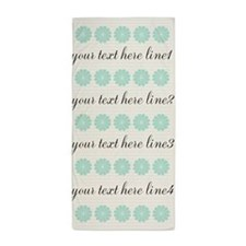 Personalized Vintage Mint Green Pastel Beach Towel