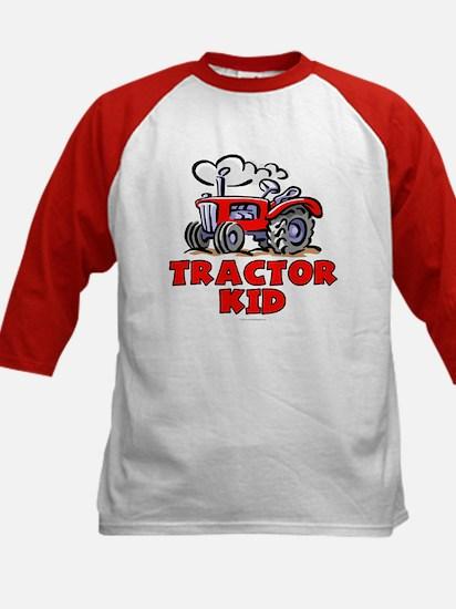 Red Tractor Kid Kids Baseball Jersey