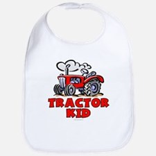 Red Tractor Kid Bib