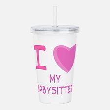 babysitter girl.png Acrylic Double-wall Tumbler