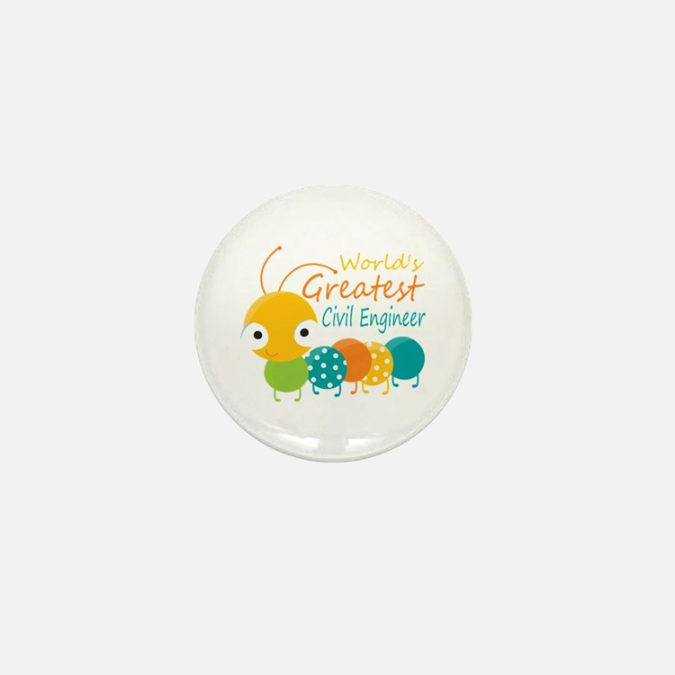 World's Greatest Civil Engin Mini Button (10 pack)