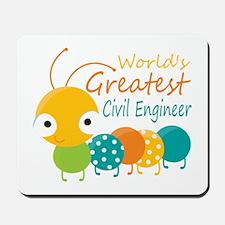 World's Greatest Civil Engineer Mousepad