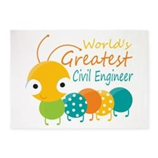 World's Greatest Civil Engineer 5'x7'Area Rug