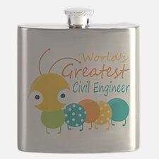 World's Greatest Civil Engineer Flask
