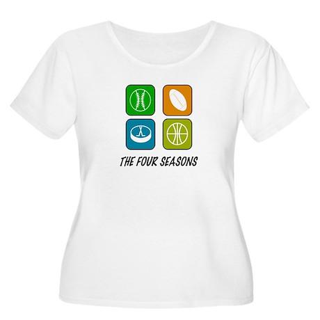 Four Seasons Women's Plus Size Scoop Neck T-Shirt