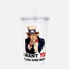 LOSE WEIGHT.png Acrylic Double-wall Tumbler