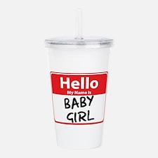 baby girl.png Acrylic Double-wall Tumbler