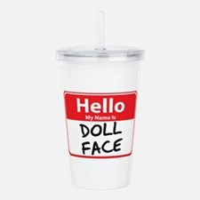 doll face.png Acrylic Double-wall Tumbler