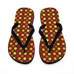 Polka Dots (Orange) Flip Flops
