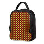 Polka Dots (Orange) Neoprene Lunch Bag