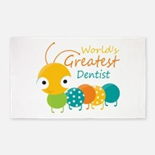 World's Best Dentist 3'x5' Area Rug