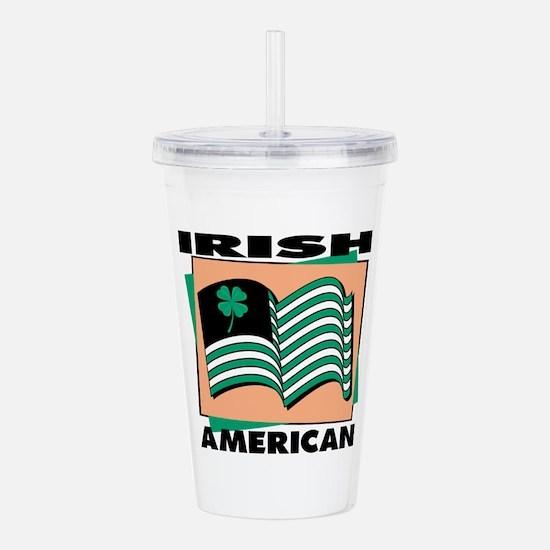 irish american.jpg Acrylic Double-wall Tumbler