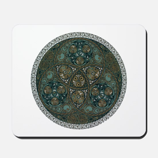 Celtic Trefoil Circle Mousepad