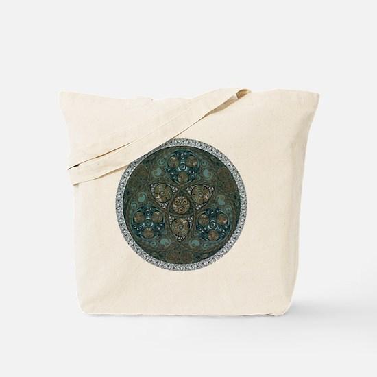 Celtic Trefoil Circle Tote Bag