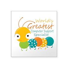 "Computer Support Specialist Square Sticker 3"" x 3"""