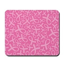 Breast Cancer Pink Ribbon Mousepad