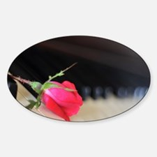 Piano Rose Decal