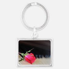 Piano Rose Landscape Keychain