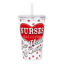 Nurses Caring Heart Acrylic Double-Wall Tumbler