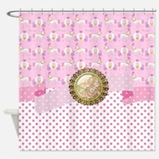 Cute Baby shower mom Shower Curtain