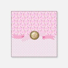 "Cute Pink castle shower Square Sticker 3"" x 3"""