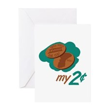 My 2 Cents Greeting Cards