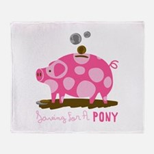 Saving For A Pony Throw Blanket