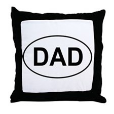 Father's Day European Dad Oval Throw Pillow