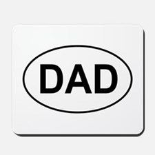 Father's Day European Dad Oval Mousepad