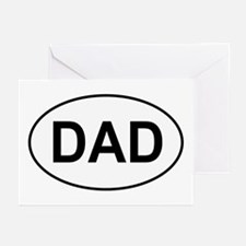 Father's Day European Dad Oval Greeting Cards (Pac