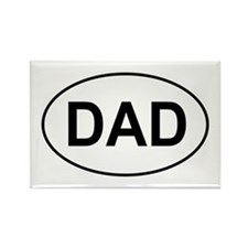 Father's Day European Dad Oval Rectangle Magnet