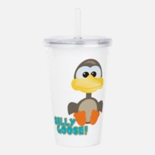 silly goose.png Acrylic Double-wall Tumbler