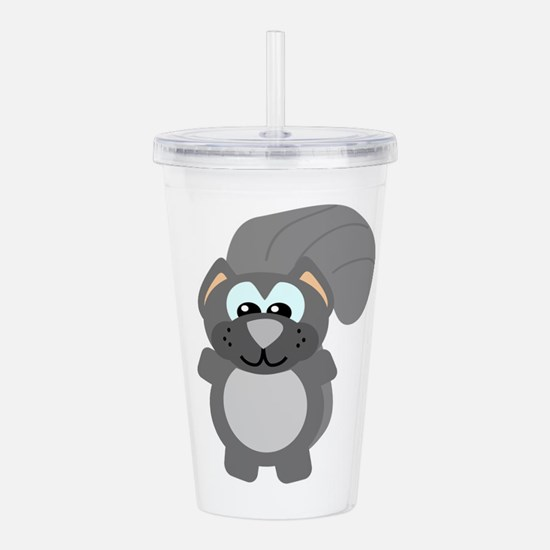 grey squirrel.png Acrylic Double-wall Tumbler
