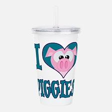 Cute Goofkins I love Piggies Pig Heart Acrylic Dou
