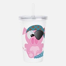 piggy pirate.png Acrylic Double-wall Tumbler
